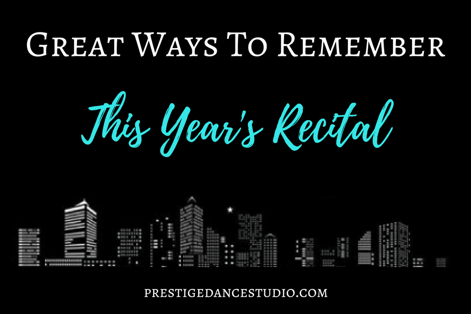 Memories for dance recitals are so important! Make sure you remember this years!